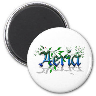 Regular Aeria Logo 2 Inch Round Magnet