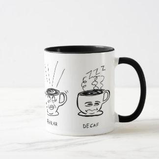Regular/Decaf Cartoon Coffee Mug