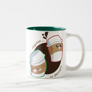 Regular or Decaf? Two-Tone Coffee Mug