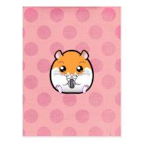 Regular Syrian Orange White Hamster Postcard