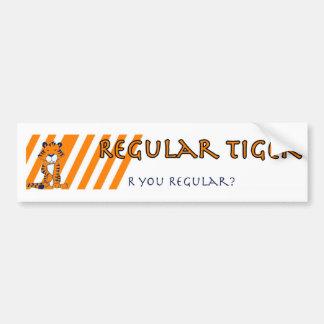Regular Tiger bumpersticker, Regular Tiger bump... Bumper Sticker