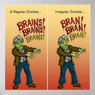 Regular Zombie vs Irregular Zombie Poster