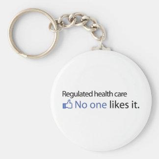 Regulated Health care Basic Round Button Keychain