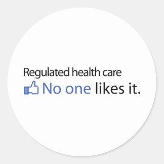 Regulated Health care Classic Round Sticker
