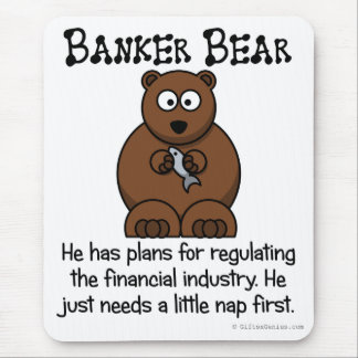 Regulating the financial industry mouse pad