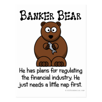 Regulating the financial industry postcard