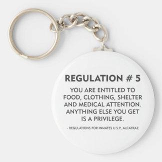 Regulation # 5 basic round button keychain