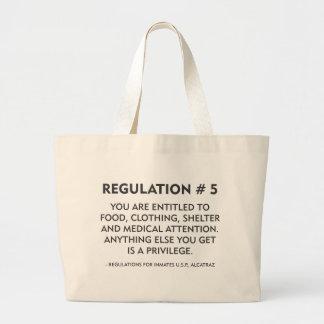 Regulation # 5 large tote bag