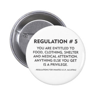Regulation # 5 pinback button