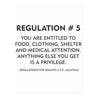 Regulation # 5 postcard