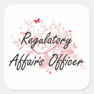 Regulatory Affairs Officer Artistic Job Design wit Square Sticker