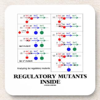Regulatory Mutants Inside (Lac Complementation) Drink Coasters
