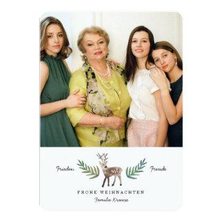 Reh Weihnachtskarte Card