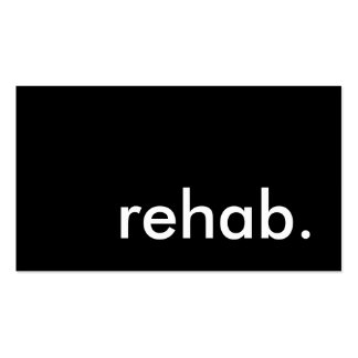 rehab. Double-Sided standard business cards (Pack of 100)