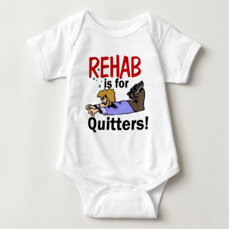 rehab is for QUITTERS! Baby Bodysuit