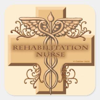 Rehab Nurse Caduceus Stickers