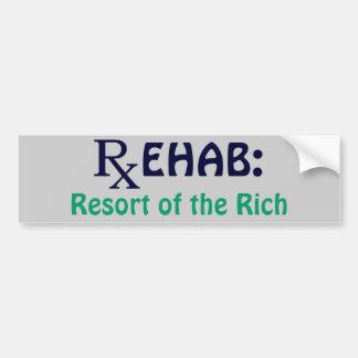 Rehab: Resort of the Rich Car Bumper Sticker
