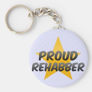 Rehabber orgulloso llavero personalizado