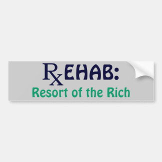 Rehabilitación: Centro turístico de los ricos Pegatina Para Auto