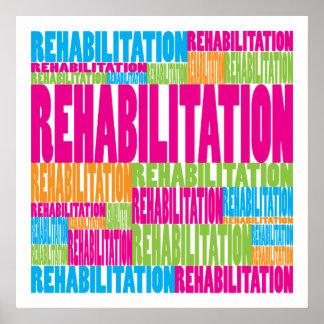 Rehabilitación colorida poster