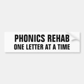 Rehabilitación de la lectura fonética pegatina para auto