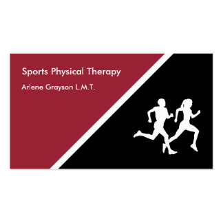 Rehabilitación de la terapia física de los tarjetas de visita