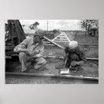 Rehabilitación del ferrocarril, los años 30 impresiones