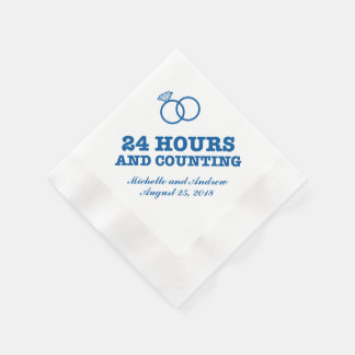 Rehearsal Dinner | 24 Hours and Counting Paper Napkin