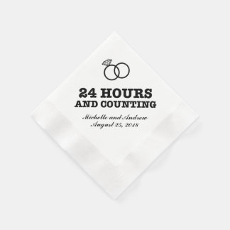 Rehearsal Dinner   24 Hours and Counting Disposable Napkin