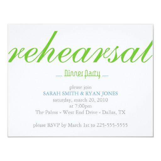 Rehearsal Dinner 4.25x5.5 Paper Invitation Card