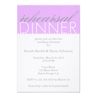 Rehearsal Dinner 5x7 Paper Invitation Card