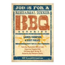 "Rehearsal Dinner BBQ Invitations 5"" X 7"" Invitation Card"