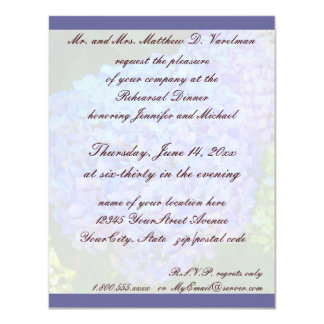 Rehearsal Dinner Blue Hydrangea 4.25x5.5 Paper Invitation Card