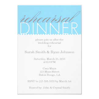 Rehearsal Dinner Card