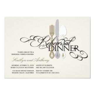 Rehearsal Dinner Classic Scrolls 2 Wedding Invite