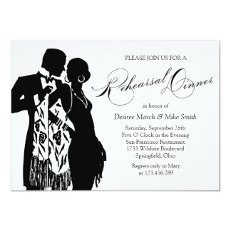 Rehearsal Dinner Coat and Tie Card