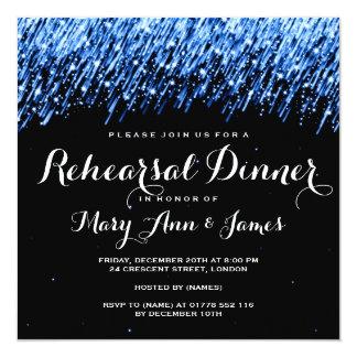 "Rehearsal Dinner Falling Stars ""Sapphire Blue"" Card"