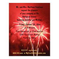 Rehearsal Dinner Fireworks Invitation