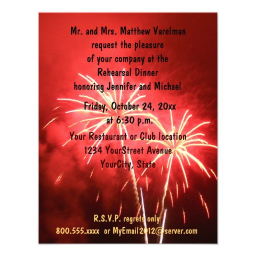 Personalized 4th of july wedding Invitations CustomInvitations4Ucom