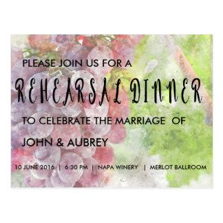 Rehearsal Dinner for Vineyard or Winery Wedding Postcard