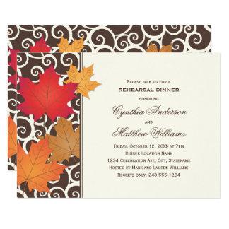 Rehearsal Dinner Invitation | Autumn Fall Theme