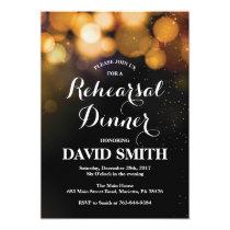 Rehearsal Dinner Invitation Card Gold Glitter