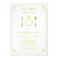 Rehearsal Dinner Invitation / Eat Drink Be Married