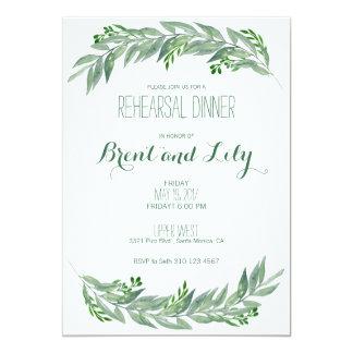 Rehearsal Dinner Invitation - Greenery Foliage