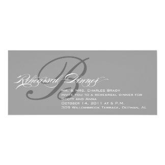 Rehearsal Dinner Invitation Grey Monogram B