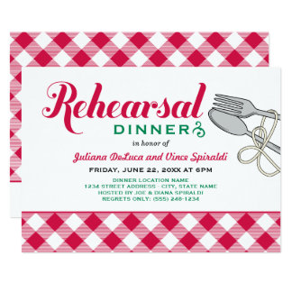 Rehearsal Dinner Invitation | Italian Food