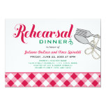 "Rehearsal Dinner Invitation | Italian Food 5"" X 7"" Invitation Card"