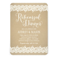 Rehearsal Dinner Invitation | Lace and Kraft