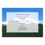 Rehearsal Dinner Invitation -- Mountain Landscape Custom Invitation