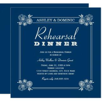 Rehearsal Dinner Invitation | Navy Blue